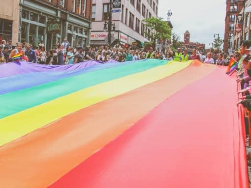 pride rainbow flag street march 2019 LGBTQ+